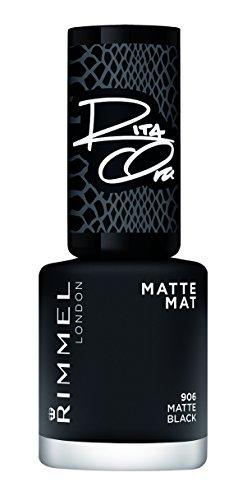 Rimmel London Super, nagellak, donkergrijze glans, 8 ml mat zwart