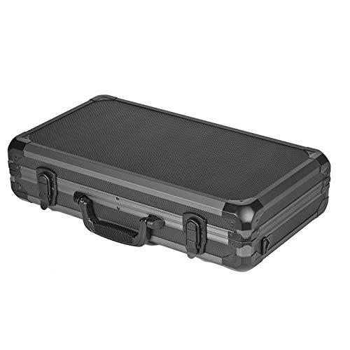 [ダイセイ]ガンケースハードアタッシュ型[50サイズ黒×ブラックフレーム500×280×100mm]ショルダー付アルミ鍵なしサバゲー