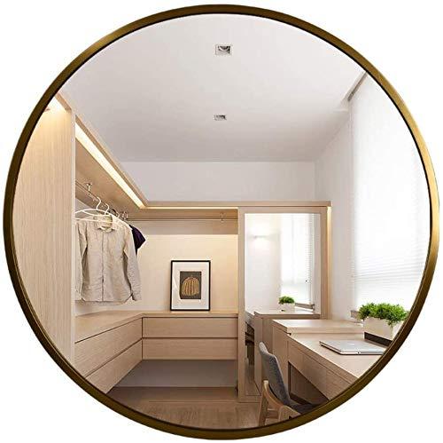 Espejo de Tocador de Baño Redondo de Pared, Negro, Blanco, Dorado, Espejo Creativo de Decoración del Hogar, 40 CM, 50 CM, 60 CM, 70 CM, 80 CM