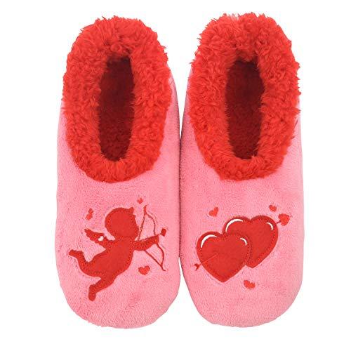 Snoozies Valentines Womens Slipper Socks | Cupid | XL