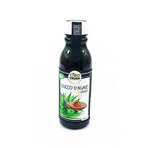 Cibocrudo Sciroppo di Agave Biologico Crudo, Agave Nectar Raw Organic – 250 Ml – Nettare Bio, Succo D'Agave Naturale e Solubile, Originario del Messico, Etichette in Italiano