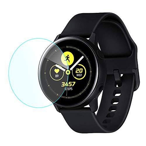 für Samsung Galaxy Watch Active Panzerglas Schutzfolie, 9H Härte verbesserte Hartglas Anti-Kratzer und Fingerabdruck HD Displayschutzfolie Gehärtetem Glas Displayschutz Panzerglas (2PCS)