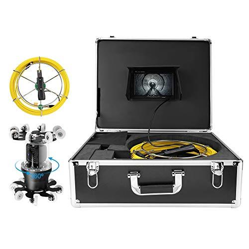 Socobeta Endoscopio de cámara IP WiFi Gran Angular con Cable de 98.4 pies para(European Standard (100-240V))