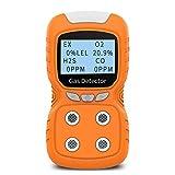 Portable Gas Detector, Gas Clip 4-Gas Monitor Meter Tester Analyzer