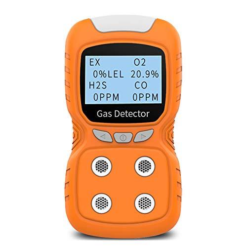 XLA Alert Rilevatore di Gas Portatile, Gas Clip 4 Gas Monitor Tester Analyzer, Display LCD Ricaricabile Luce Scossa Luce Dell aria Qualità Dell aria, Rivelatore 2 Anni