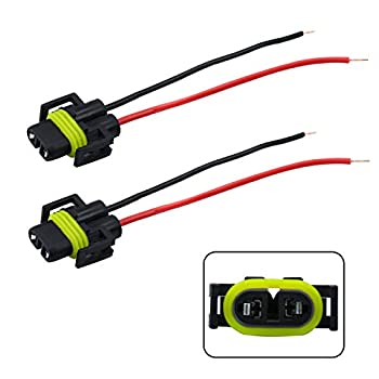 iBrightstar H11 H9 H8 880 881 Female Adapter Wiring Harness Sockets Wire for Headlights or Fog Lights