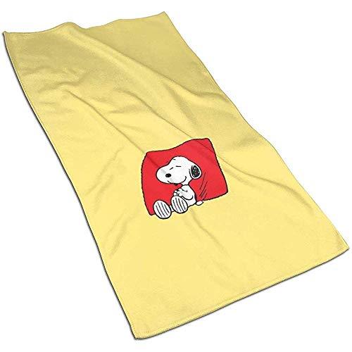 Schlaf Snoopy Soft Super Absorbent Schnelltrocknendes Handtuch Badetuch Strandtuch - 27,5 x 17,5 Zoll