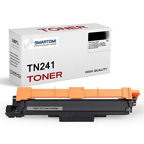 SMARTOMI - 1 cartucho de tóner negro compatible con cartuchos TN241 para impresoras color Brother DCP-9020CDW, HL-3140CW,...