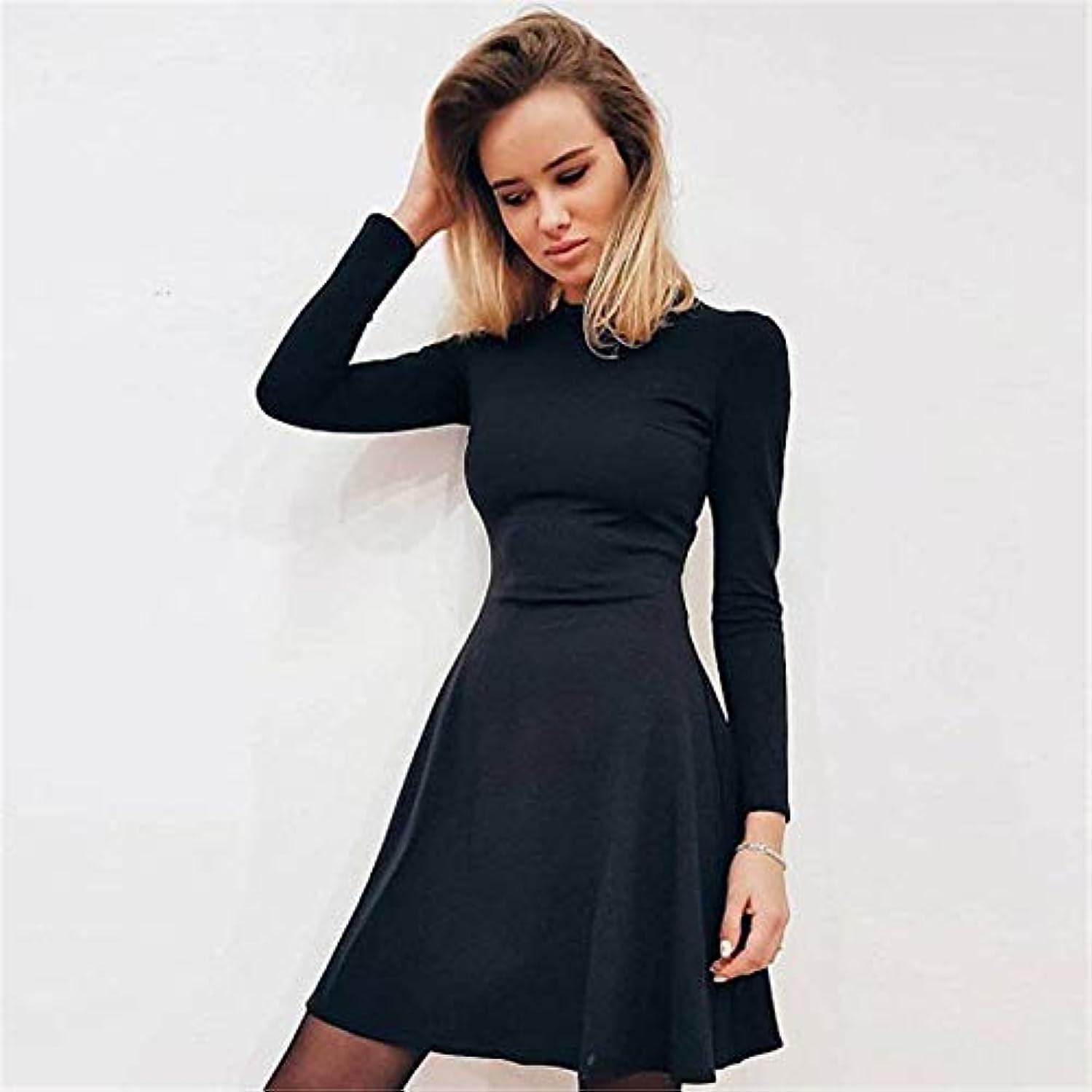 牛刺す承知しましたMaxcrestas - 秋と冬の新しい女性の長袖タイトフィットドレスの秋と冬のスリムでエレガントな品質のミニドレス