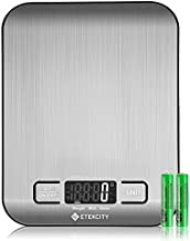 Etekcity Food Scale, Digital Kitchen Grams and Ounces for Weight Loss, Baking, Cooking, Meal Prep & Keto Diet, Small, Silver