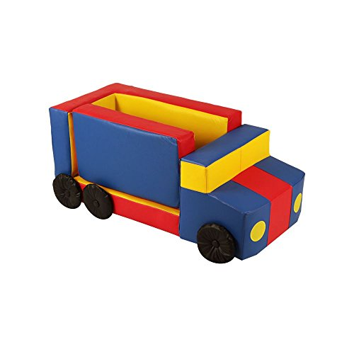 Puff Infantil Truck Nobre Colorido - Stay Puff