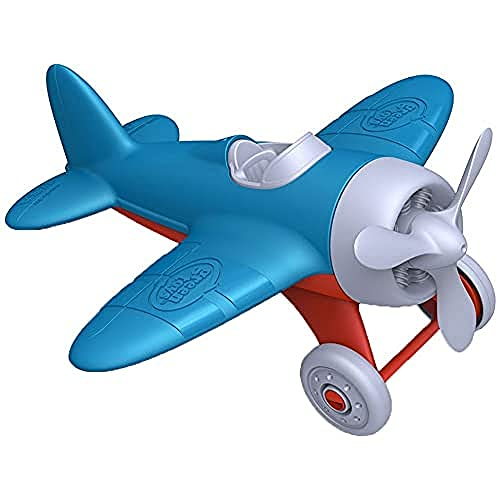 Green Toys Airplane - BPA, Phthalates Free, Blue Air Transport Toy for Introducing...