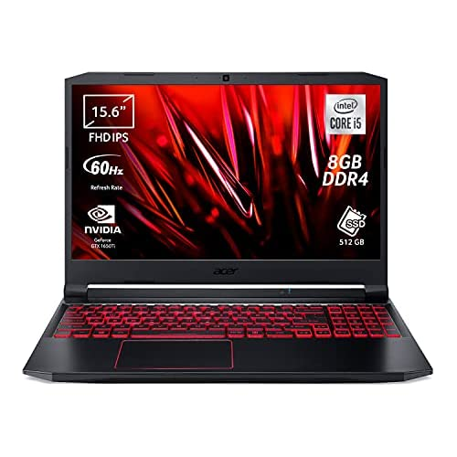 Acer Nitro 5 AN515-55-53PX Computer Gaming, Processore Intel Core i5-10300H, Ram 8 GB DDR4, 512 GB PCIe NVMe SSD, Display 15.6