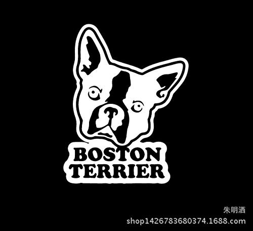 Pegatinas de coche Kyman para coche, pegatinas para coche, diseño de Boston Terrier