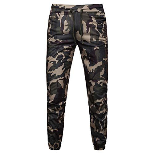 VPASS Pantalones Hombre,Chándal de Hombres Camuflaje Impresión Pantalones Ropa Gym Hombre Casuales Jogging Pantalon Trend Largo Pantalones Deportivos Pants Trekking Hombres