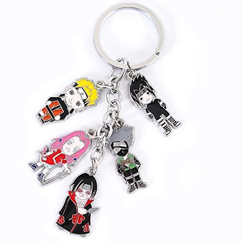 Multiculture Llavero Naruto con 5 minifiguras Chibi