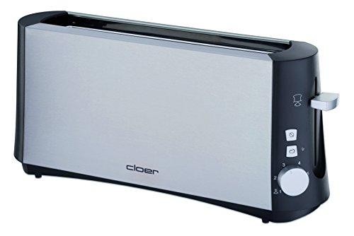Cloer 3810 Toaster, Edelstahl matt, Schwarz