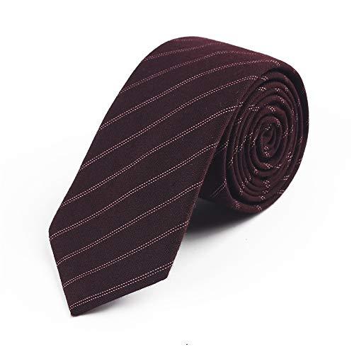 ZSRHH-Neckchiefs Halstücher Bunte Krawatte der gestreiften Komfort-Groomsmen-Silk Männer für Formale Geschäfts-Hochzeit (Farbe : Rot)