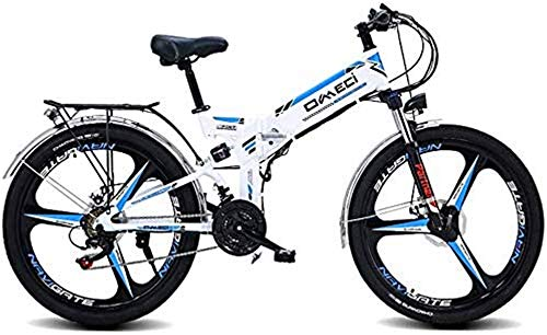 Electric Bike Electric Mountain Bike, Folding Electric Mountain Bike 26'/24'Mountain Bike,Front And Rear Double Shock Absorption Three Working Modes for Adults City Commuting Outdoor Cycling for the j