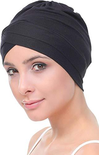 Deresina Headwear Deresina W Baumwollmütze für Chemo (Schwarz)