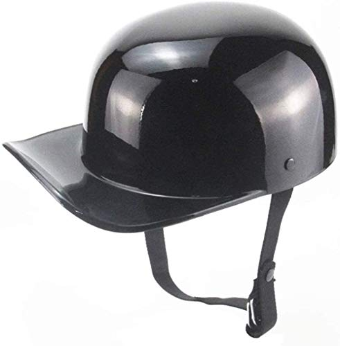FREENN Retro Scoop Casco Moto Half-Helmet,Gorra De BéIsbol Casco De Moto Jet Medio Casco Certificado ECE Casco Scooter Casco Retro Personalizado Casco De Moto Abiertos