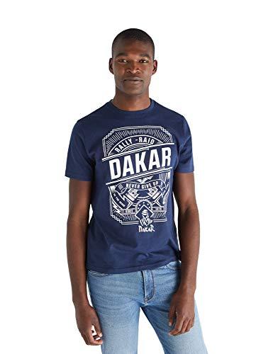 Cortefiel Camiseta Dakar, Azul (Azul Oscuro 11), XXL (Tamaño del Fabricante: XXL) para Hombre
