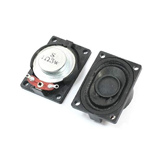 X-DREE 2 Unids 40mm x 28mm Altavoz Magnético Displayer de Pantalla LCD Reproductor de Anuncios LCD Amplificador de Audio 3W Reemplazo de 4 Ohmios (2Pcs 3W 4 Ohm Aimant haute-parleur LCD Ad Lecteur Aud