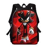 MIAGO Mochila Escolar Sonic Mochila de Hombro para niños con patrón Personalizado, Mochila para Estudiantes, 3 unids/Set, Mochilas Escolares para niños