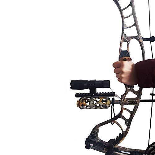 XBF-BAIZ, Ourpgone Compound Arch Barrel Mount Holder per mirino Laser e Torcia elettrica Torcia Night Hunter Tiro con L Arco Sparare a Bersaglio Caccia alla Notte Nuovo (Colore : Nero)