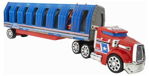 Hot Wheels Power Drop Transporter - Red/Blue
