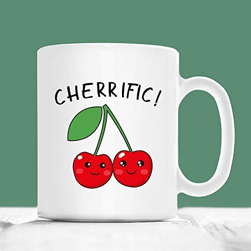 N\A Kirschbecher, Cherrific, Cherry Pun Becher, Fruit Pun GIF