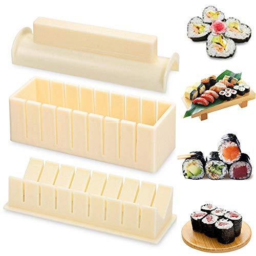 Kit de Hacer Sushi para Principiante 3pcs Herramienta de Plástico de Fabricar...