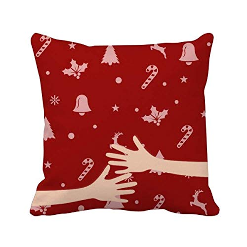 cold master DIY lab Christmas Snowflake Elk Crutch Bell Hug Throw Pillow Square Cover