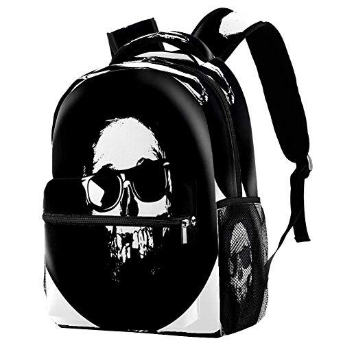 Cool Bulldog Mochila Mochila escolar Bolsa de libro Casual Daypack para viajes, estampado 6 (Multicolor) - bbackpacks004