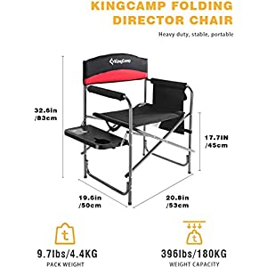 KingCamp Oversize Directors Camping Chair 180 KG Weight Capacity