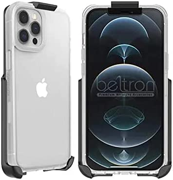 BELTRON Belt Clip Holster Compatible with OtterBox Prefix Series Case for iPhone 12 Pro Max, Features: Built in Kickstand (Holster Only - Case is NOT Included)