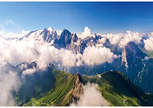 HD 2 2x1 5m Natural Landscape Photography Backdrop Rolling Mountain Range Clouds Photo Background Backdrops Photography Video Party Kids Personal Portrait Photo Studio Props