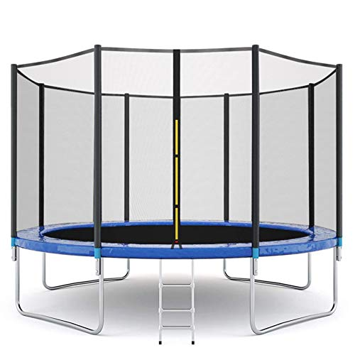 12FT Trampoline for Kids and Adults, Indoor & Outdoor Bounce Fitness Trampoline w/ Enclosure Net Jumping Mat and Spring Cover Padding - ASTM Approved, Max 600 LBS Weight Capacity