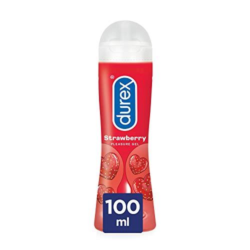 Durex Lubricante Sabor y Aroma Fresa de Base Agua - 100 ml