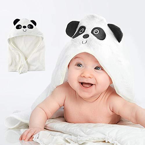 ベビー用バスローブ フード付き 新生児用おくるみ セット 可愛い 出産お祝い 新生児毛布 90*90cm 竹繊維 ブランケット 柔らかい 男の子 女の子 幼児 お風呂タオル 吸水速乾 ギフト 誕生日プレゼント (白い)