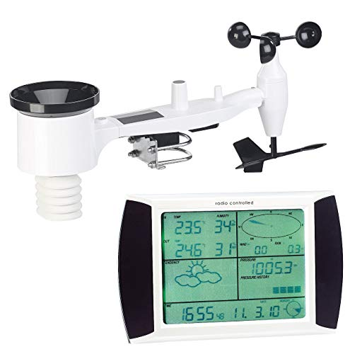 infactory Windmesser: Wetterstation-Set mit Touchscreen-Display & Außenstation, PC-Anschluss (Wetterstation PC Anbindung)
