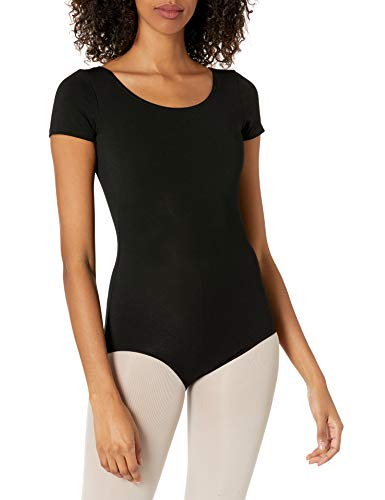 Capezio Women's Classic Short Sleeve Leotard,Black,Small