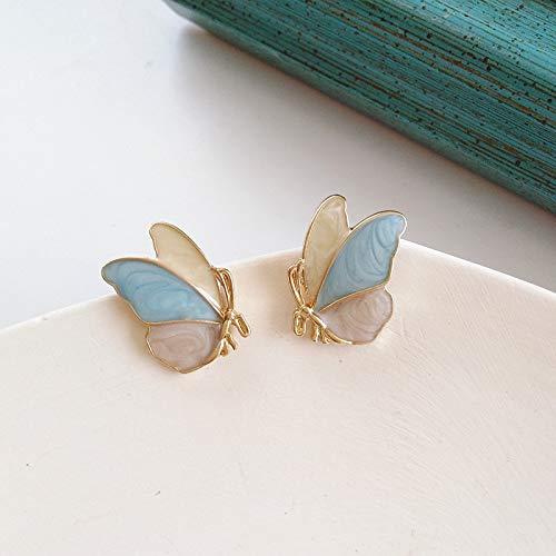 SALAN Moda Lindo Rhinestone Gold Color Butterfly Clip En Pendientes Sin Agujero para Las Mujeres Sin Piercing Piercing Fake Cartílago Pendiente Regalos