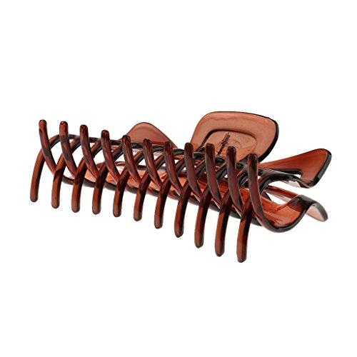 Generic X-förmig Haarkralle, Große Haargreifer, Haarschmuck, aus Harz - Braun