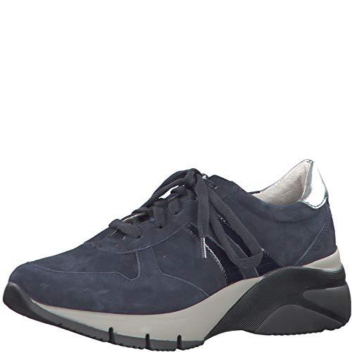 Tamaris Damen Schnürhalbschuhe 23753-33, Frauen sportlicher Schnürer, Women's Women Woman Freizeit leger Halbschuh Sneaker,Navy Comb,42 EU / 8 UK