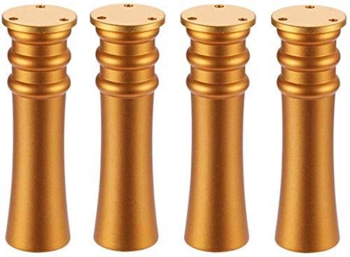 ZJDU Patas para muebles Niture Pies ajustables, aleación de aluminio, patas de apoyo móviles con pies elevados para mesa X 4