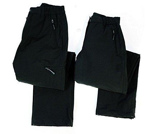 Hot-Colorado Pantalon de Ski Stretch de Sport pour Homme Noir L Noir - Noir