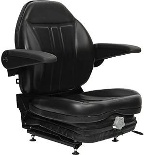 Black Talon Highback Suspension Seat with Folding Armrests - Black, Model Number 36O0OBK02UN