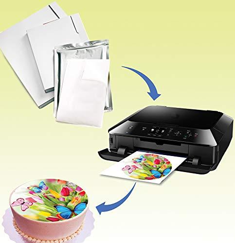 Imágenes comestibles de impresión y frase hechas con hojas de glaseado fotoFrost de alta calidad