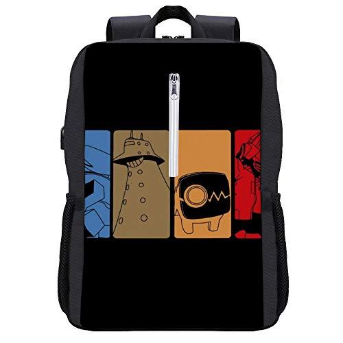 Cowboy Bebop Manga Art Rucksack Daypack Bookbag Laptop Schultasche mit USB-Ladeanschluss